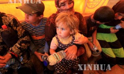 ေဂ်ာ္ဒန္-ဆီးရီးယား နယ္စပ္တြင္ ဆီးရီးယား ႏိုင္ငံမွ ဒုကၡသည္မ်ားအား ျမင္ေတြ႕ရစဥ္ (ဆင္ဟြာ)