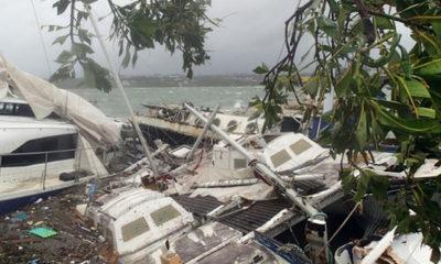 ဆိုက်ကလုန်းမုန်တိုင်း ဝင်စတန် တိုက်ခတ်ပြီးနောက် ပျက်စီးမှုများအား တွေ့ရစဉ် (ဓာတ်ပုံ-အင်တာနက်)