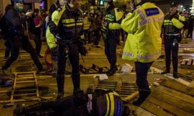 ဟောင်ကောင်ရှိ Mong Kok ဧရိယာတွင် အဓိကရုဏ်း ဖြစ်ပွားနေစဉ် (ဓာတ်ပုံ-အင်တာနက်)