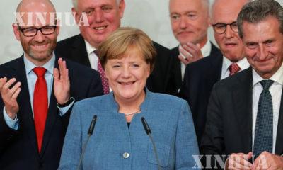 ဂ်ာမနီႏုိင္ငံ Bundestag ပါလီမန္၌ ဝန္ႀကီးခ်ဳပ္ အိန္ဂ်လာမာကဲလ္ မိန္ ့ခြန္းေျပာၾကားေနစဥ္(ဆင္ဟြာ)