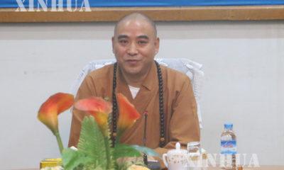 တရုတ္-ျမန္မာ ႏွစ္ႏိုင္ငံ ဗုဒၶဘာသာ ပူးေပါင္း ဖလွယ္ေရး အဖြဲ ့ခ်ဳပ္ တည္ေဆာက္ေရး ေဆြးေႏြးပြဲတြင္ ရွန္ဟိုင္းျမိဳ ့ က်င္အမ္း ဘုရားေက်ာင္း ပဓာန နာယက ဆရာေတာ္ Mr. Hui Ming မိန္ ့ၾကားေတာ္မူစဥ္ (ဆင္ဟြာ)