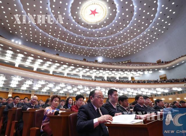 တရုတ္ႏုိင္ငံ CPPCC ထိပ္တန္းႏုိင္ငံေရးအတုိင္ပင္ခံအဖြဲ ့၏ ႏွစ္ပတ္လည္ ညီလာခံ ပိတ္ပြဲအခမ္းအနားက်င္းပစဥ္(ဆင္ဟြာ)