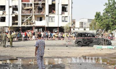 ယီမင္ႏုိင္ငံ အဒန္(Aden)ၿမိဳ႕တြင္ ယခင္က တုိက္ခုိက္မႈျဖစ္ပြားခဲ့သည့္ ရဲဌာနတစ္ခုအား ေတြ႔ရစဥ္(ဆင္ဟြာ)