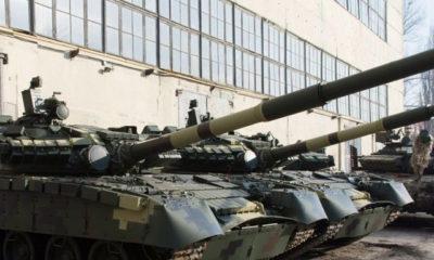 ယူကရိန္းႏုိင္ငံထုတ္ ေနာက္ဆံုးေပၚ T-64 တင့္ကားအား ျပသထားစဥ္(ဓာတ္ပံု-အင္တာနက္)
