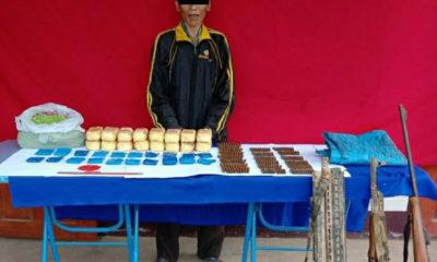ဖမ်းဆီးရမိသော စိတ်ကြွရူးသွပ်ဆေးပြားများနှင့် လက်နက်ခဲယမ်းများအားတွေ့ရ စဉ်(CCDAC)