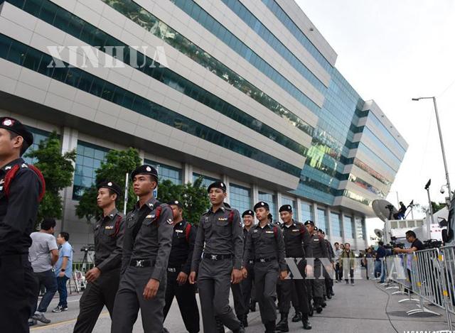 ထိုင်းနိုင်ငံ၌ ၂၀၁၇ ခုနှစ် အတွင်း ရဲတပ်ဖွဲ့ဝင်များ ကင်းလှည့်နေမှု တစ်ခုအား တွေ့ရစဉ်(ဆင်ဟွာ)