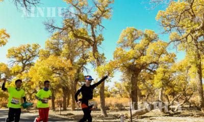၂၀၁၉ ခုနှစ် Ejina Populus သစ်တောဥယျာဉ်ဖြတ်ကျော် နိုင်ငံတကာ မာရသွန်အပြေးပြို်ငပွဲ ကျင်းပနေသည့် မြင်ကွင်းများ (ဆင်ဟွာ)