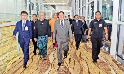 မြန်မာလွှတ်တော် ချစ်ကြည်ရေး ကိုယ်စားလှယ် အဖွဲ့ ကိုရီးယားသမ္မတနိုင်ငံသို့ ထွက်ခွာစဉ်(ဓာတ်ပုံ-MOI)