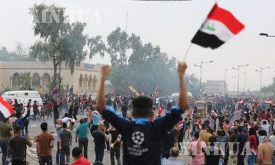 အီရတ်နိုင်ငံတွင် အစိုးရအား ဆန့်ကျင်ဆန္ဒပြနေသူများအား တွေ့ရစဉ် (ဆင်ဟွာ)