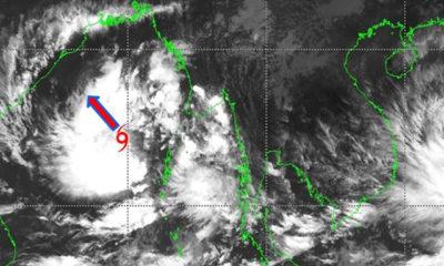 မုန်တိုင်းဖြစ်ပေါ်မှုပြမြေပုံအားတွေ့ရစဉ် (ဓာတ်ပုံ--မိုးဇလ)