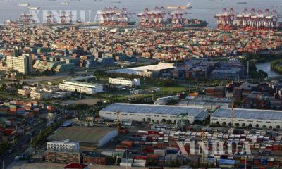 တရုတ်နိုင်ငံရှန်ဟိုင်းမြို့လွတ်လပ်သော ကုန်သွယ်ရေး စမ်းသပ်ဇုန်၏ မြင်ကွင်းများအား တွေ့ရစဉ်(ဆင်ဟွာ)