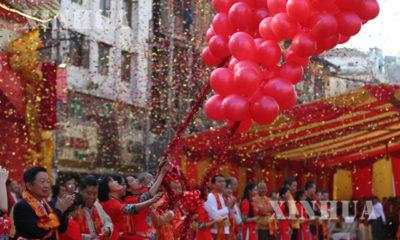 ၂၀၂၀ တရုတ်ရိုးရာ နှစ်သစ်ကူးပွဲတော်အား ဖဲကြိုးဖြတ် ဖွင့်လှစ်စဉ်(ဆင်ဟွာ)