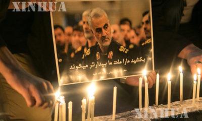 အမေရိကန်၏ လေကြောင်းတိုက်ခိုက်မှုအတွင်း သေဆုံးသွားသည့် အီရန်တပ်မှူး Qasem Solemani အတွက် အီရန်ပြည်သူများ ဝမ်းနည်းကြောင်း ထုတ်ဖော်ပြသစဉ်(ဆင်ဟွာ)