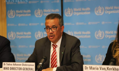 WHO ညွှန်ကြားရေးမှူးချုပ် တက်ဒရော့စ် အက်ဒမ်နွမ် ဂယ်ဘရက်စ်စက်အား တွေ့ရစဉ် (ဆင်ဟွာ)