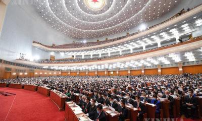 ၁၃ ကြိမ်မြောက် အမျိုးသားပြည်သူ့ကွန်ဂရက်၏ တတိယမြောက်အစည်းအဝေး ဖွင့်ပွဲအခမ်းအနားအား တွေ့ရစဉ် (ဆင်ဟွာ)