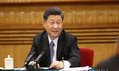 တရုတ်နိုင်ငံ သမ္မတ၊ တရုတ်ကွန်မြူနစ်ပါတီ (CPC) ဗဟိုကော်မတီ အထွေထွေအတွင်းရေးမှူးနှင့် ဗဟိုစစ်ကော်မရှင် ဥက္ကဋ္ဌ ရှီကျင့်ဖိန်က ၁၃ ကြိမ်မြောက် အမျိုးသားပြည်သူ့ကွန်ဂရက်၏ တတိယမြောက် အစည်းအဝေးသို့ တက်ရောက်လာသည့် အတွင်းမွန်ဂိုလီးယား ကိုယ်ပိုင်အုပ်ချုပ်ခွင့်ရဒေသ ကိုယ်စားလှယ်များနှင့် မေ ၂၂ ရက်က ဆွေးနွေးနေစဉ် (ဆင်ဟွာ)