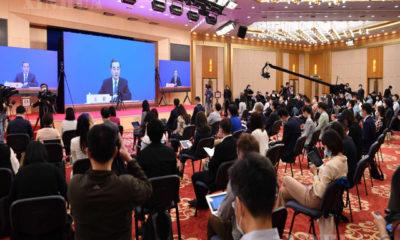 တရုတ်နိုင်ငံ နိုင်ငံတော်ကောင်စီဝင်နှင့်နိုင်ငံခြားရေးဝန်ကြီး ဝမ်ရိအား မေ ၂၄ ရက် two session သတင်းစာရှင်းလင်းပွဲတွင် တွေ့ရစဉ်(ဆင်ဟွာ)