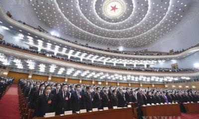 ၁၃ ကြိမ်မြောက် အမျိုးသားပြည်သူ့ကွန်ဂရက် (NPC) တတိယမြောက် အစည်းအဝေးကို တရုတ်နိုင်ငံ ပေကျင်းမြို့ရှိ မဟာပြည်သူ့ခန်းမ၌ မေ ၂၂ ရက်က ဖွင့်လှစ်စဉ်(ဆင်ဟွာ)