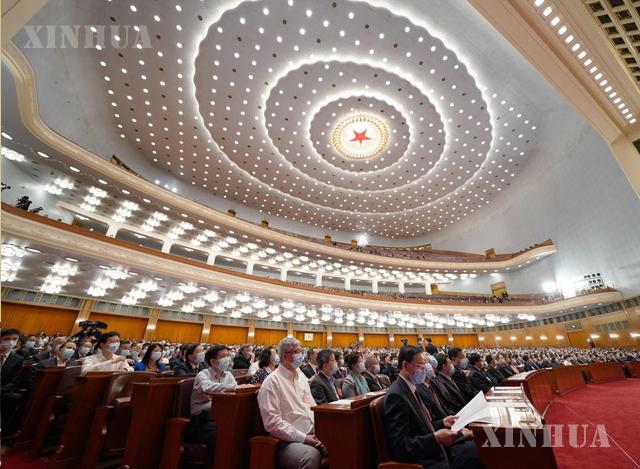 တရုတ်ပြည်သူ့နိုင်ငံရေးဆွေးနွေးညှိနှိုင်းမှု ညီလာခံ(CPPCC)၏ ၁၃ ကြိမ်မြောက် အမျိုးသားကော်မတီ တတိယ အစည်းအဝေးကျင်းပနေမှုအား မေ ၂၇ ရက်က တွေ့ရစဉ်(ဆင်ဟွာ)