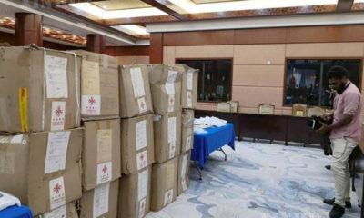 တရုတ်နိုင်ငံမှ ထောက်ပံ့ကူညီသော ကျန်းမာရေးအသုံးအဆောင်များ ဖီဂျီနိုင်ငံသို့ရောက်ရှိလာစဉ်(ဆင်ဟွာ)