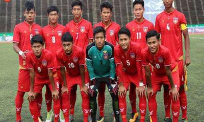 မြန်မာ့လက်ရွေးစင်ယူ-၁၉ ဘောလုံးအသင်းအားတွေ့ရစဉ် (ဓာတ်ပုံ--MFF)