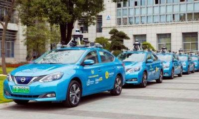 တရုတ်နိုင်ငံ တောင်ပိုင်း ကွမ်တုန်းပြည်နယ် ကွမ်ကျိုးမြို့တွင် WeRide မှ တီထွင်ထုတ်လုပ်ထားသော L-4 အဆင့် မောင်းသူမဲ့ RoboTaxi များအား တွေ့ရစဉ် (ဓာတ်ပုံ- WeRide မှ ဆင်ဟွာသို့ပေးပို့သည်)