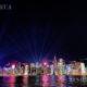 တရုတ်နိုင်ငံတောင်ပိုင်း ဟောင်ကောင်ရှိ ဗစ်တိုးရီးယားဆိပ်ကမ်း၏ ညပုံရိပ်အလှအပကို ဇွန် ၁၂ ရက်က တွေ့ရစဉ်(ဆင်ဟွာ)