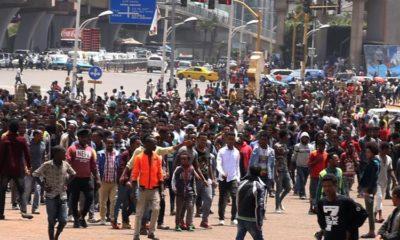 အီသီယိုးပီးယားနိုင်ငံ၌ နာမည်ကျော် အဆိုတော် Hachalu Hundessa သေဆုံးမှုအပေါ် မကျေနပ်၍ လူအုပ်စုများအကြား ပဋိပက္ခဖြစ်ပွားနေစဉ်(ဓာတ်ပုံ-အင်တာနက်)