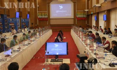 နေပြည်တော်၊ NRPC ၌ JICM အကြို ညှိနှိုင်း အစည်းအဝေး ကျင်းပနေစဉ် (ဆင်ဟွာ)