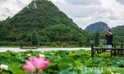 တရုတ်နိုင်ငံ ယူနန်ပြည်နယ် ဝန်ဆန်းရှိ သဘာဝ ခရီးသွား ဥယျာဉ် မြင်ကွင်းများအား ဇူလိုင် ၁၀ ရက်တွင် တွေ့ရစဉ် (ဆင်ဟွာ)