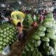 သီရိမင်္ဂလာဈေးရှိ ဖရဲသီးဒိုင်များအားတွေ့ရစဉ် (ဆင်ဟွာ)