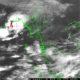မုန်တိုင်းငယ်ဖြစ်ပေါ်မှုပြမိုးဇလမြေပုံအားတွေ့ရစဉ် (ဓာတ်ပုံ--မိုးဇလ)