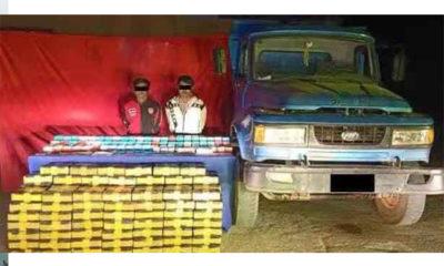 ဖမ်းဆီးရမိသော တရားခံများနှင့် မူးယစ်ဆေးဝါးများအားတွေ့ရစဉ် (CCDAC Myanmar)