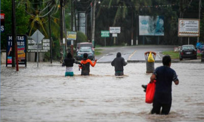 လက်တင်အမေရိကားဒေသ ဂွာတီမာလာနိုင်ငံတွင် အပူပိုင်းမုန်တိုင်း Eta ကြောင့် ရေကြီးရေလျှံမှုများဖြစ်ပွားနေသည်ကို နိုဝင်ဘာ ၆ ရက်က တွေ့ရစဉ်(ဓာတ်ပုံ-အင်တာနက်)