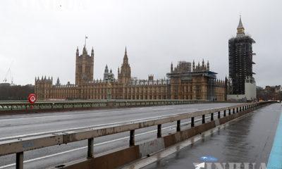 ဗြိတိန်နိုင်ငံ လန်ဒန် လွှတ်တော်အဆောက်အဦရှေ့ မြင်ကွင်းအား ဒီဇင်ဘာ ၂၁ ရက်က တွေ့ရစဉ်(ဆင်ဟွာ)