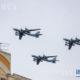ရုရှား နိုင်ငံထုတ် Tu-95MS ဗုံးကြဲလေယာဉ်များအား မြင်တွေ့ရစဉ်(ဆင်ဟွာ)