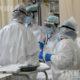 အီတလီနိုင်ငံ ဘိုလိုညာမြို့၊ Sant'Orsola-Malpighi ဆေးရုံရှိ COVID-19 ကုသဆောင်၌ ကျန်းမာရေးဝန်ထမ်းများကို တွေ့ရစဉ် (ဆင်ဟွာ)