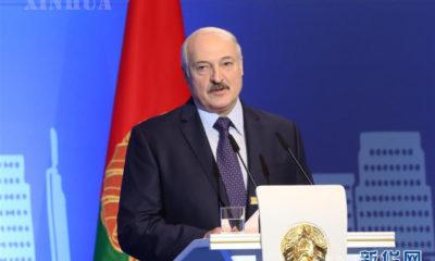 ဘီလာရုစ်နိုင်ငံ သမ္မတ Alexander Lukashenko အား မြင်တွေ့ရစဉ်(ဆင်ဟွာ)