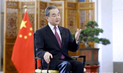 တရုတ်နိုင်ငံ နိုင်ငံတော်ကောင်စီဝင်နှင့် နိုင်ငံခြားရေးဝန်ကြီး ဝမ်ရိအား ဇန်နဝါရီ ၂ ရက်က တွေ့ရစဉ် (ဆင်ဟွာ)