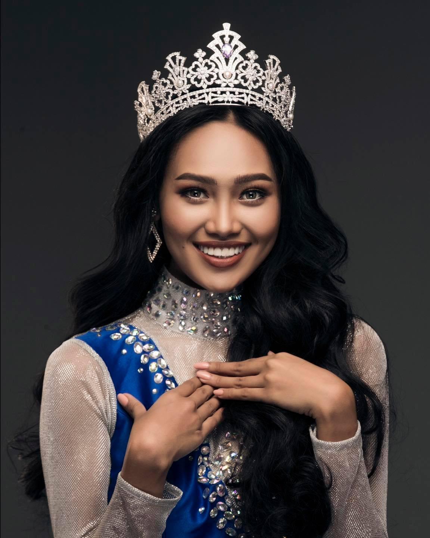 Miss Grand Myanmar 2020 ဟန်လေးအားတွေ့ရစဉ် (ဓာတ်ပုံ--Miss Grand Myanmar)