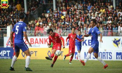 Myanmar National League ပြိုင်ပွဲတွင် ရှမ်းယူနိုက်တက်အသင်းယှဉ်ပြိုင်ကစားနေစဉ် (ဓာတ်ပုံ-- Myanmar National League)
