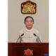 နိုင်ငံတော် သမ္မတ ဦးဝင်းမြင့် နှစ်သစ်ကူး နှုတ်ခွန်းဆက် အမှာစကားပြောကြားစဉ် (ဓာတ်ပုံ - Myanmar President Office)