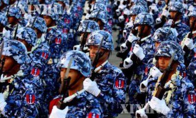 တပ်မတော်နေ့ အခမ်းအနားကျင်းပနမှုအားတွေ့ရစဉ် (ဆင်ဟွာ)