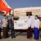 COVISHIELD ကာကွယ်ဆေးများ မြန်မာနိုင်ငံသို့ ရောက်ရှိလာသည့် မြင်ကွင်းအားတွေ့ရစဉ် (ဓာတ်ပုံ- MOI)