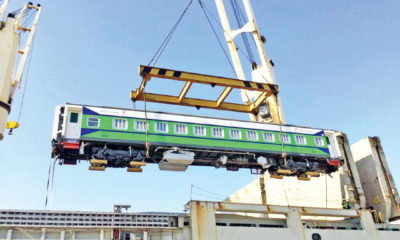 သီလဝါဆိပ်ကမ်းသို့ ရောက်ရှိသည့် ရထားတွဲဆိုင်းအား တွေ့ရစဉ် (ဓာတ်ပုံ-MOI)