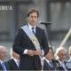 ဥရုဂွေးနိုင်ငံသမ္မတ Luis Lacalle Pou မိန့်ခွန်းပြောကြားနေသည်ကိုမြင်တွေ့ရစဉ် (ဆင်ဟွာ)
