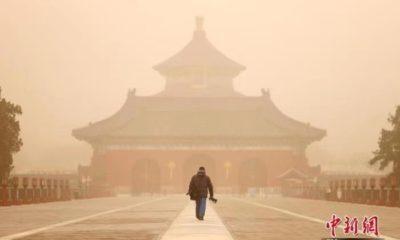 တရုတ်နိုင်ငံ ပေကျင်းမြို့ Temple of Heaven၏ မြင်ကွင်းအား မတ် ၁၅ ရက်က တွေ့ရစဉ် (ဓာတ်ပုံ-Chinanews.com)