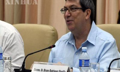 ကျူးဘားနိုင်ငံ ဟားဗားနားမြို့၌ ၂၀၁၉ ခုနှစ် စက်တင်ဘာ ၉ ရက်တွင်ပြုလုပ်သော အစည်းအဝေးတွင် နိုင်ငံခြားရေးဝန်ကြီး Bruno Rodriguez မိန့်ခွန်းပြောကြားနေစဉ် (ဆင်ဟွာ)