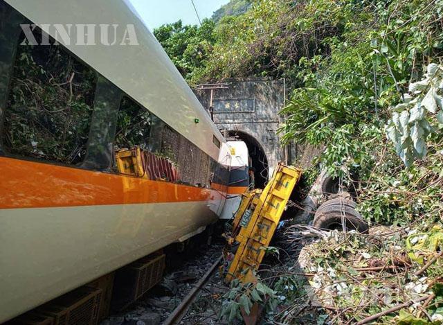 တရုတ်နိုင်ငံ ထိုင်ဝမ်ဒေသ ရထားမတော်တဆမှုဖြစ်ပွားခဲ့သည့် နေရာအား ဧပြီ ၂ ရက်က တွေ့ရစဉ် (ဆင်ဟွာ)