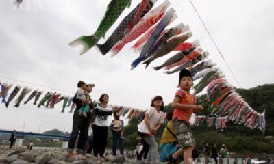 မေလ ၅ ရက် ဂျပန်ကလေးများနေ့ မြင်ကွင်းတစ်နေရာအား တွေ့ရစဉ် (ဆင်ဟွာ)